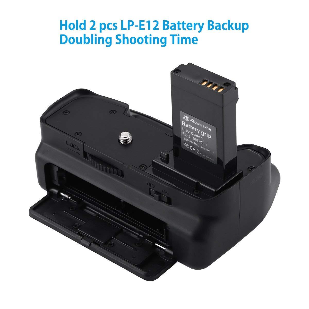 Powerextra Vertical Battery Grip For Canon Eos 100d Rebel Sl1