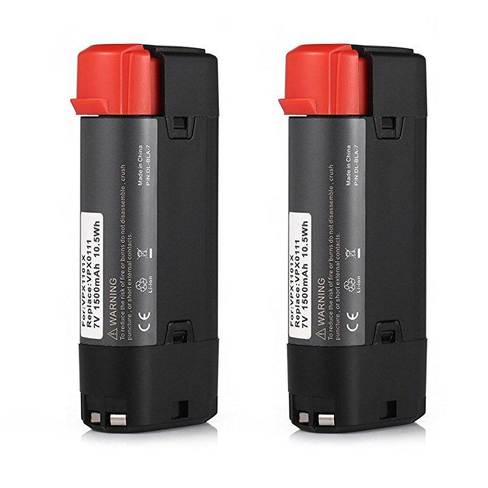 Storslået 2 Pack 7V 1500mAh Li-ion Black & Decker VPX0111 Battery for VK65