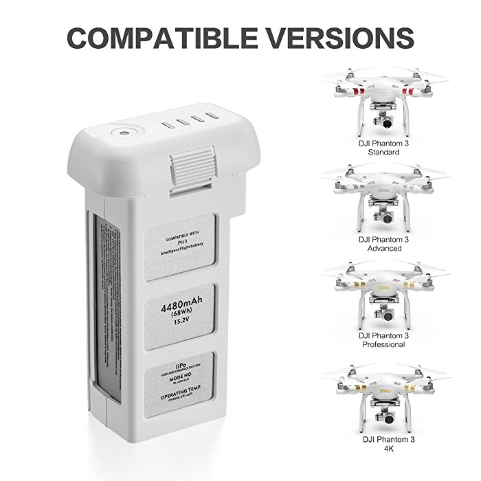 Upgraded 15 2V 4480mAh LiPo Intelligent Flight Battery