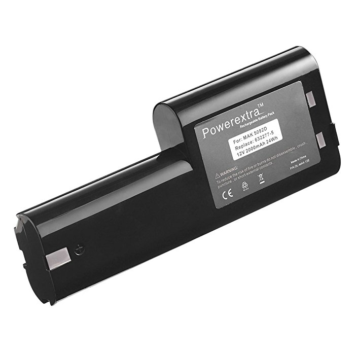 powerextra replacement battery for makita 12v 2000mah ni cd rechargeable replacement electric. Black Bedroom Furniture Sets. Home Design Ideas