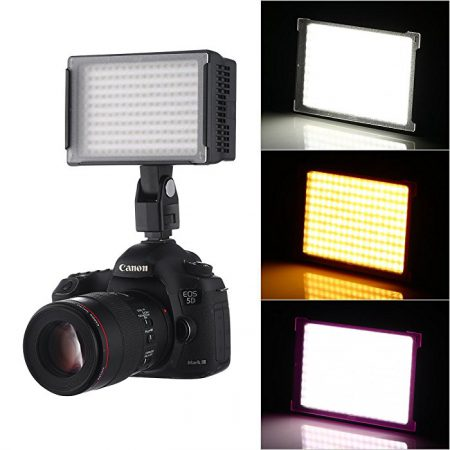 170 LED VL003-170 14W Panel Dimmable Panel Studio, Camcorder Video Light for Canon Nikon Pentax Samsung Fujifilm Olym