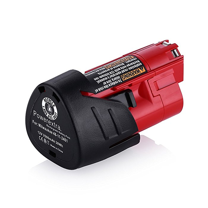2 5ah 12v Power Tool Battery Compatible With Milwaukee 48