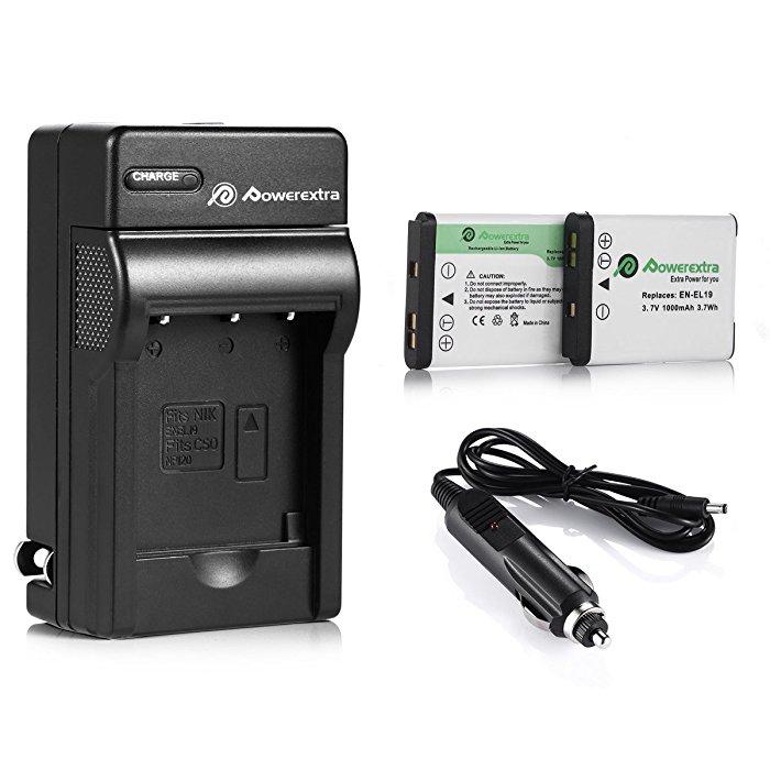 2X Battery /& USB Charger EN-EL19 For Nikon CoolPix S3200 S2750 S7000 S3400
