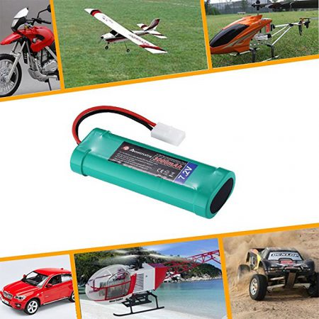 6 Cell 7.2 V Battery Pack for RC Cars , RC Trucks , RC Airplanes