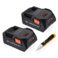 Powerextra 2-Pack 18V RIDGID Drill Battery Replacement for R840087 R840083