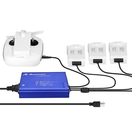 Powerextra Phantom 4 Series 4 in 1 Intelligent Rapid Multi Battery Charger Hub
