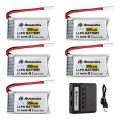 Powerextra 3.7 V 350mAh Lipo Battery for Hubsan X4 H107C H107D H107L