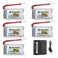 Powerextra 3.7 V 350mAh Lipo Battery for Hubsan X4 H107C H107D H107L