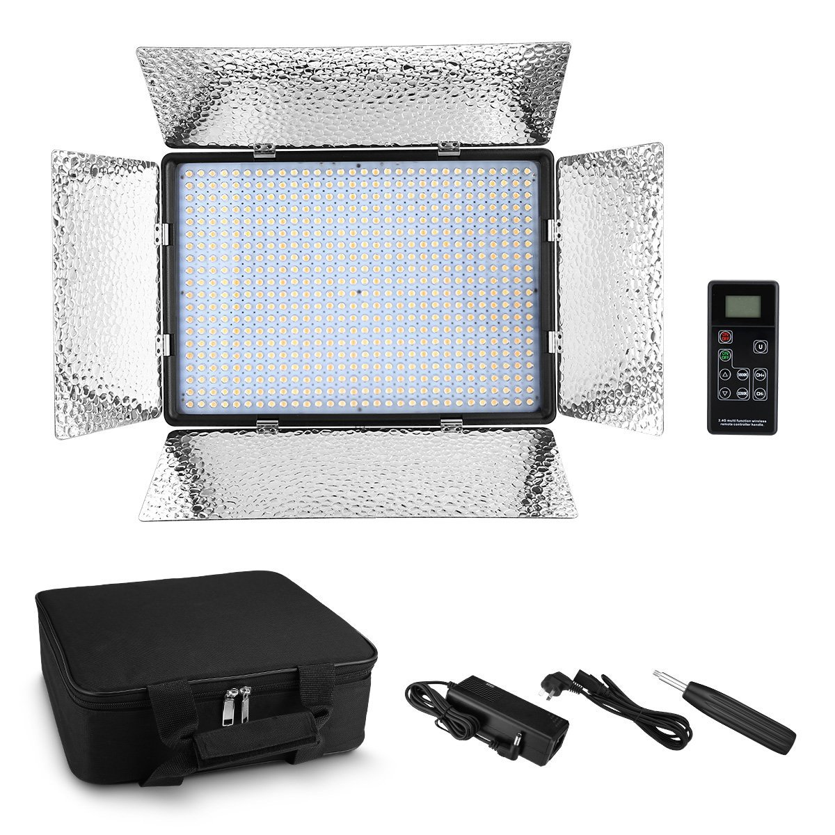 Powerextra 600 Beads Bi Color Dimmable Led Video Light