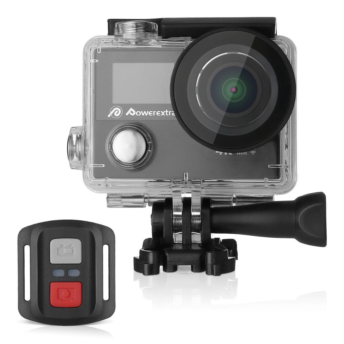 8d67271e1 Powerextra 4K Waterproof Sport Action Camera Ultra HD Camcorder ...