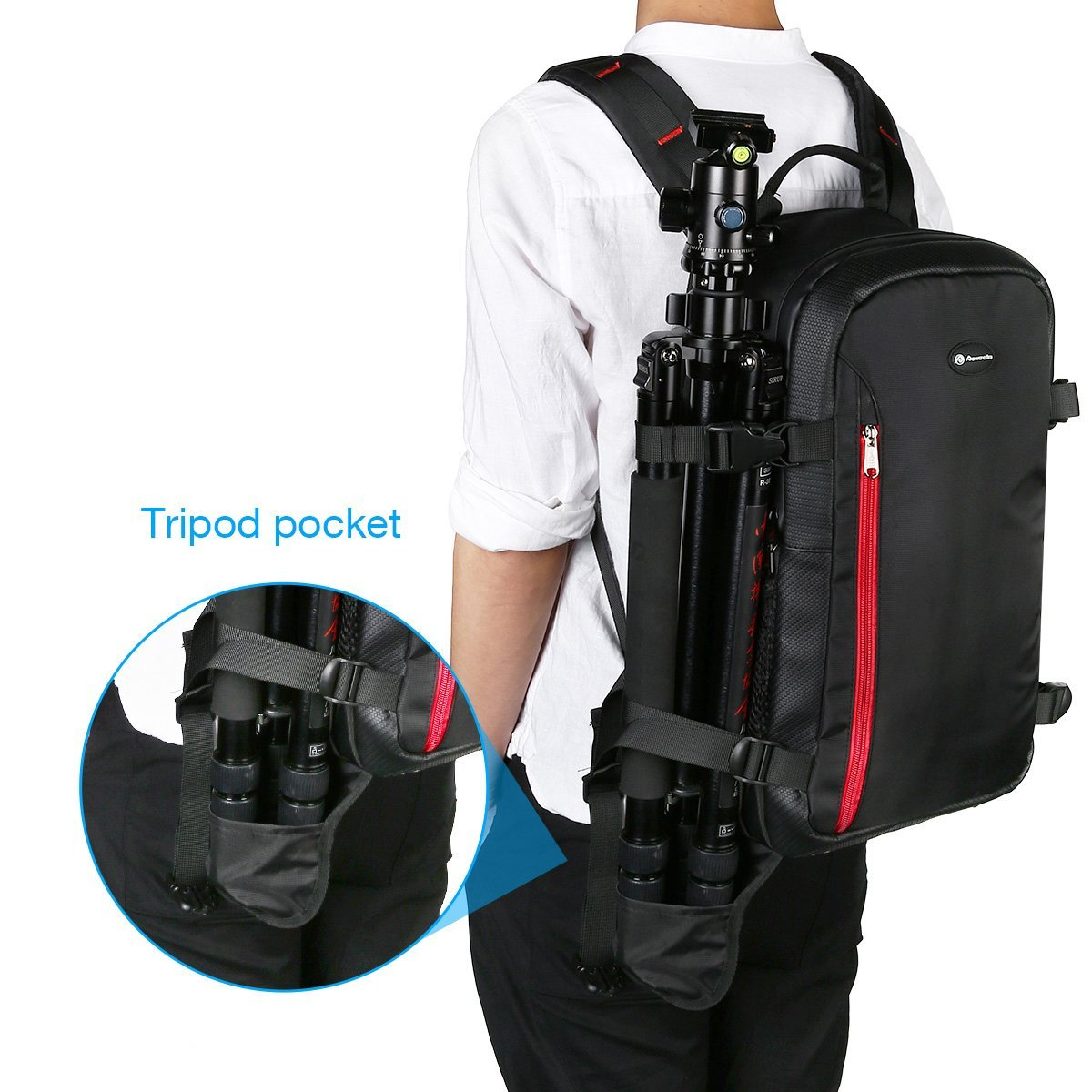 Powerextra Multi Functional Large Dslr Camera Backpack