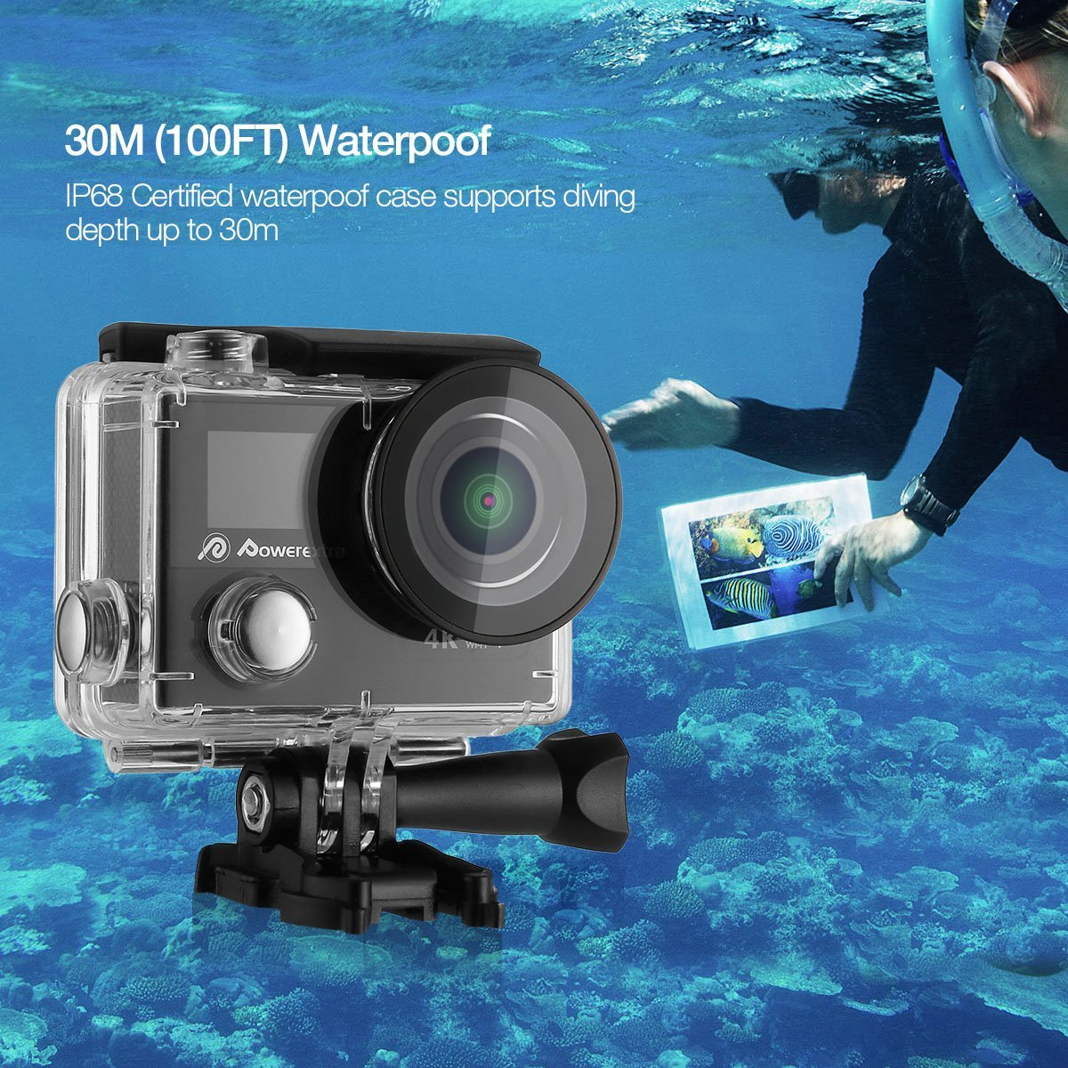 Powerextra 4k Waterproof Sport Action Camera Ultra Hd Camcorder 12mp Cam Full With Remote Multi Purpose