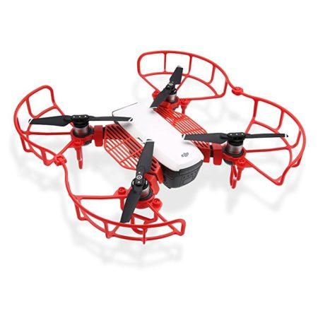 Powerextra DJI Spark Quick Release Propeller Guard Bumper Protectors, Extender landing Gear Leg and Finger Guards Kits
