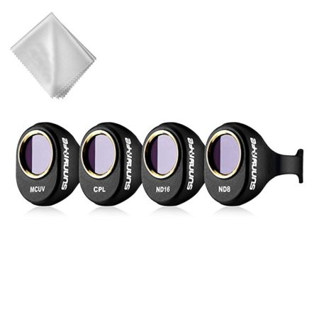 Powerextra Upgraded 4-Pack DJI Spark Drone HD Lens Filters Kit (UV + CPL + ND8 + ND16 Filter)