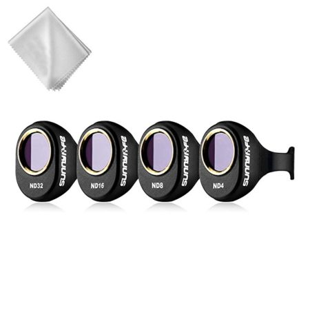 Powerextra Upgraded 4-Pack DJI Spark Drone HD Lens Filters Kit (ND4 + ND8 + ND16 + ND32 Filter)
