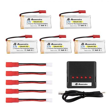 LiPo Rechargeable Battery with X5 Charger for Holy Stone F181 RC Quadcopter