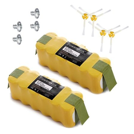 Powerextra 2-Pack 14.4V 3800mAh Ni-MH Replacement Battery for iRobot Roomba R3 500,600,700,800,900 Series