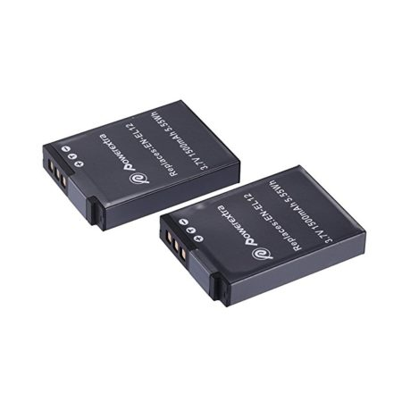 Powerextra 2 Pack Replacement Battery for Nikon EN-EL12 and Nikon Coolpix AW100, AW110, P300, S630, S640, S6000, S6100, S6150, S6200, S6300, S8000