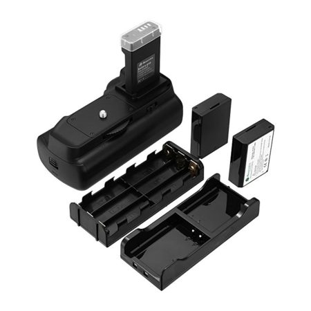 Powerextra Camera Battery Grip and 2-Pack High Capacity 1600mAh LP-E10 Batteries for Canon EOS 1100D/1200D/1300D/T3/T5/T6 Digital SLR Camera