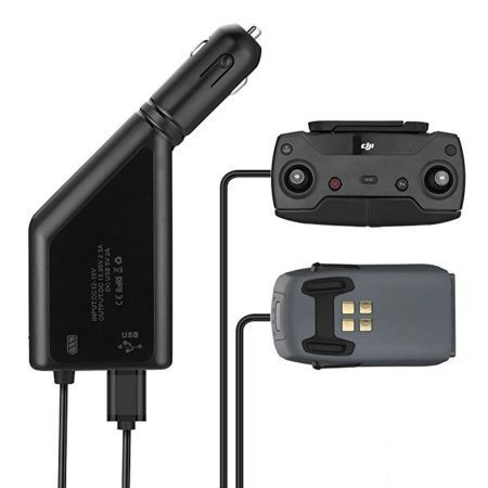 Powerextra Upgraded DJI Spark Intelligent Flight Battery Car Charger 4.5A