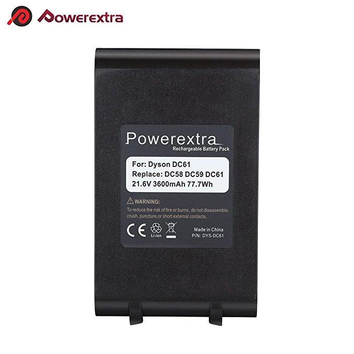 Image of: 965874 02 717jvn3ozzlsl700 Powerextra Powerextra Upgraded 216v 3600mah Liion Battery For Dyson V6 Dc61