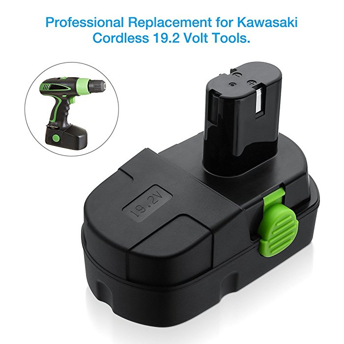 Power Tool Batteries for Kawasaki 19.2 V Battery Replacet
