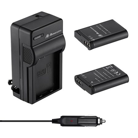 Powerextra 2 Replacement Batteries and  Quick Charger for Nikon EN-EL23 and Nikon Coolpix P600, P610, B700, P900, S810c Cameras