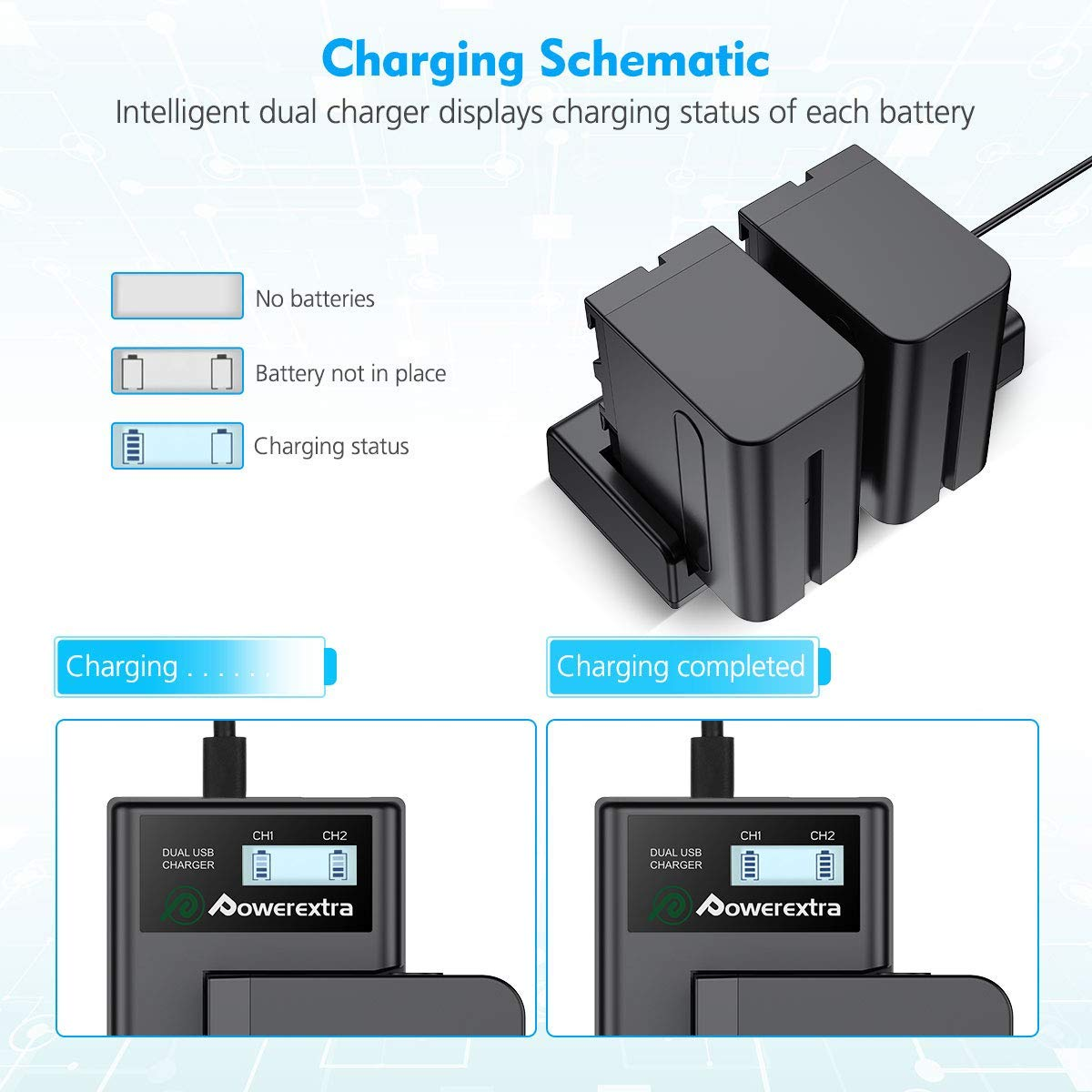 Powerextra 2 Pack Replacement Sony Np F550 Battery With Smart Lcd Usb Charger Schematic 61yjxu4pb4l Sl1200