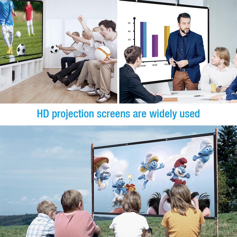 9 HD pour Projection /à Double Face 100 Powerextra /Écran de Projection Portable Anti-Rides Pliable de 100 Pouces 16